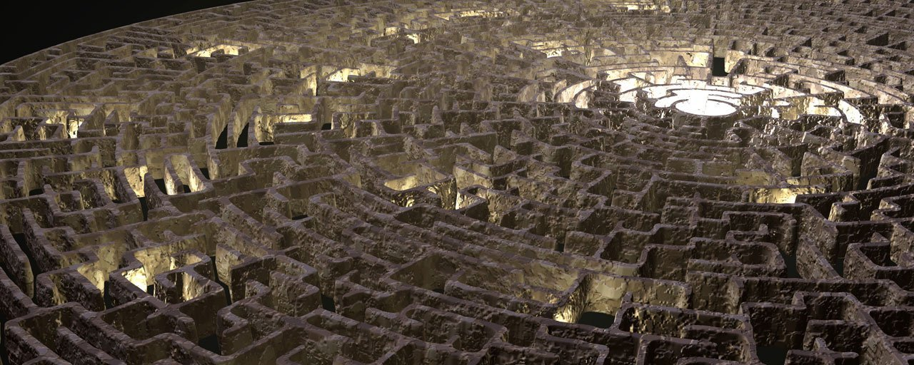 photo of a maze symbolizing the search for torrents