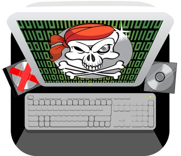 Image of Jolly Roger on a computer screen