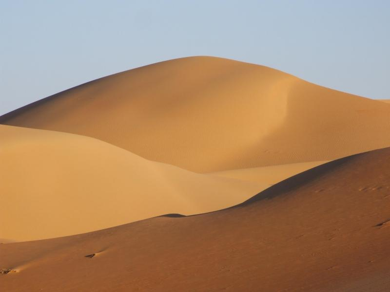 Photo of Sahara desert dunes