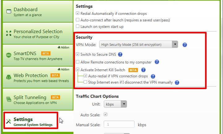 purevpn torrent general security settings