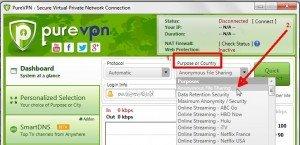 PureVPN torrenting settings