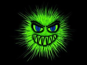 Image of scary cartoon virus