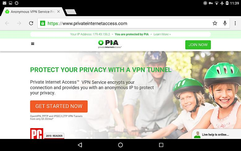 Best VPN for Android PIA image