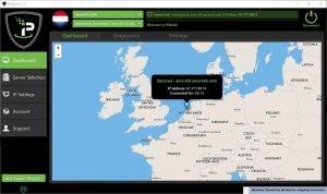 IPVanish Dashboard screenshot