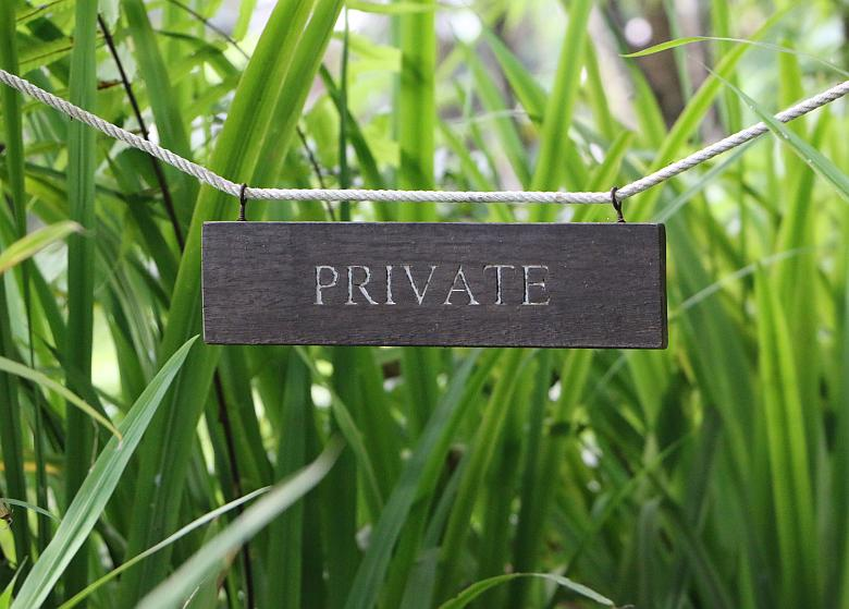 Screenshot of Private sign.