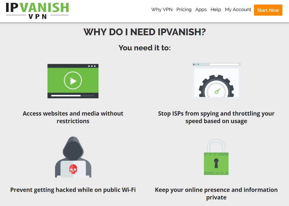 screenshot of IPVanish review
