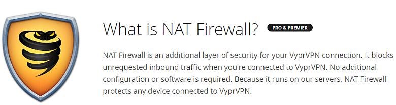 VyprVPN torrent NAT firewall image