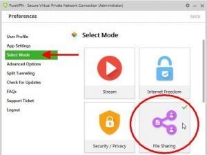purevpn-torrenting-select-mode-file-sharing image