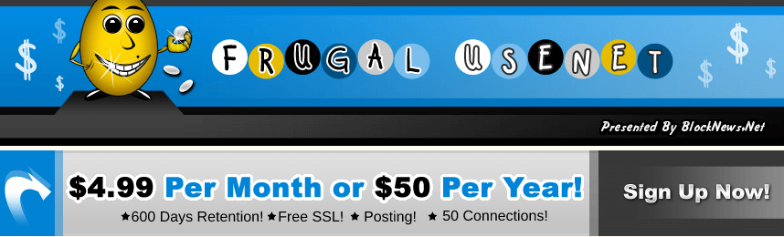 Frugal Usenet Review Deal