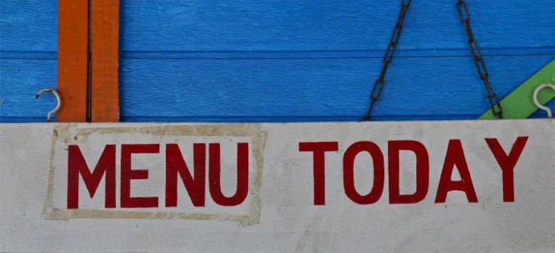 Photo of colorful 'Menu Today' sign