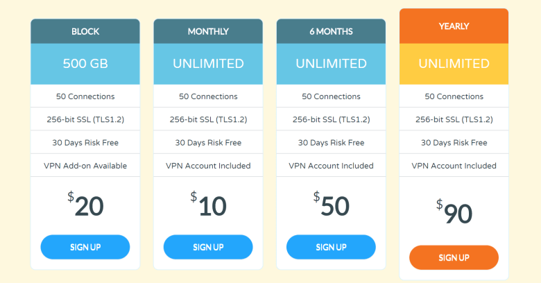 UsenetExpress Pricing image