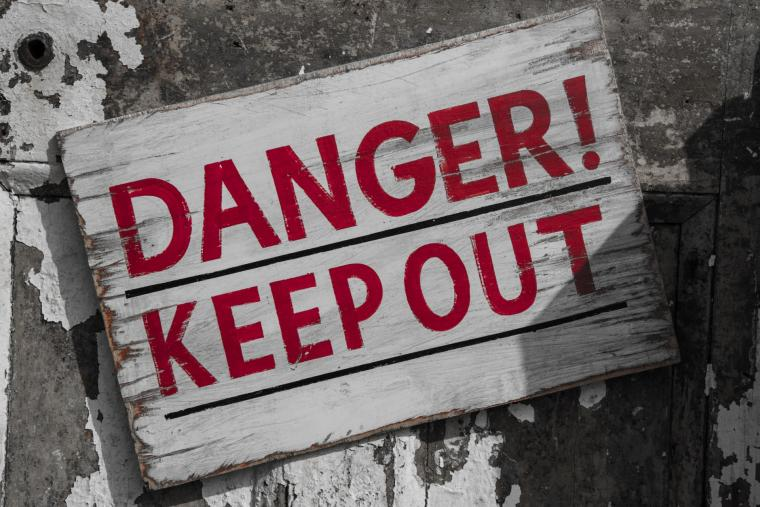 Photo of a Danger Keep Out sign