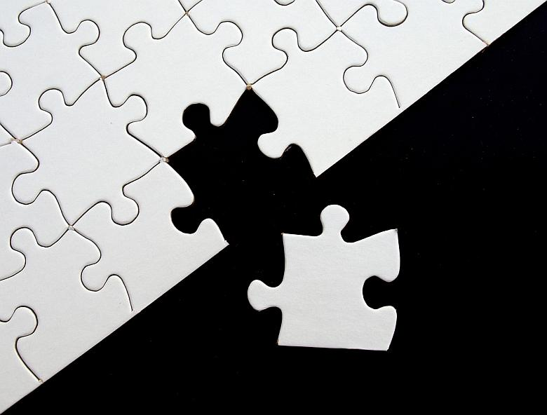 image of final puzzle piece completing puzzle