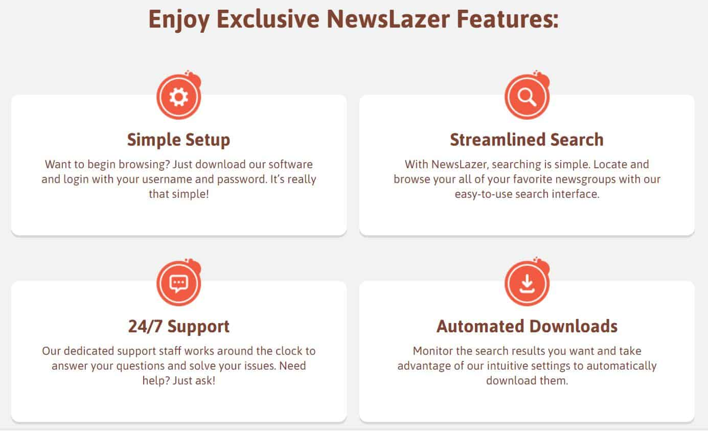 newslazer website screenshot