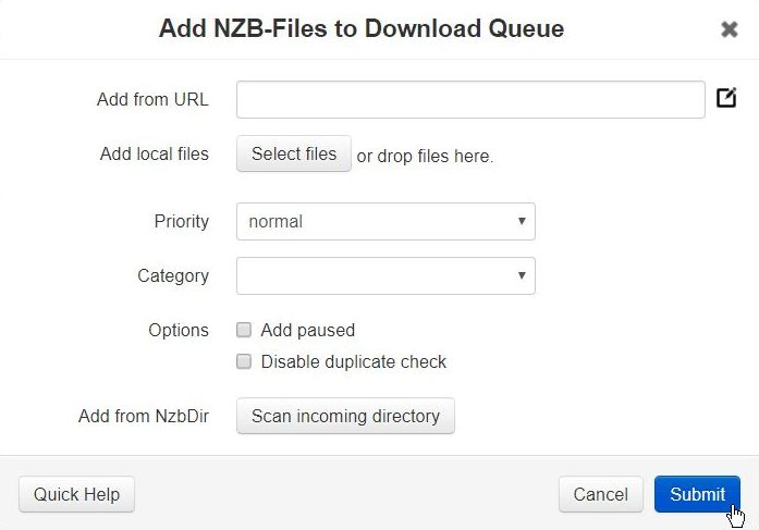 Nzbget default password