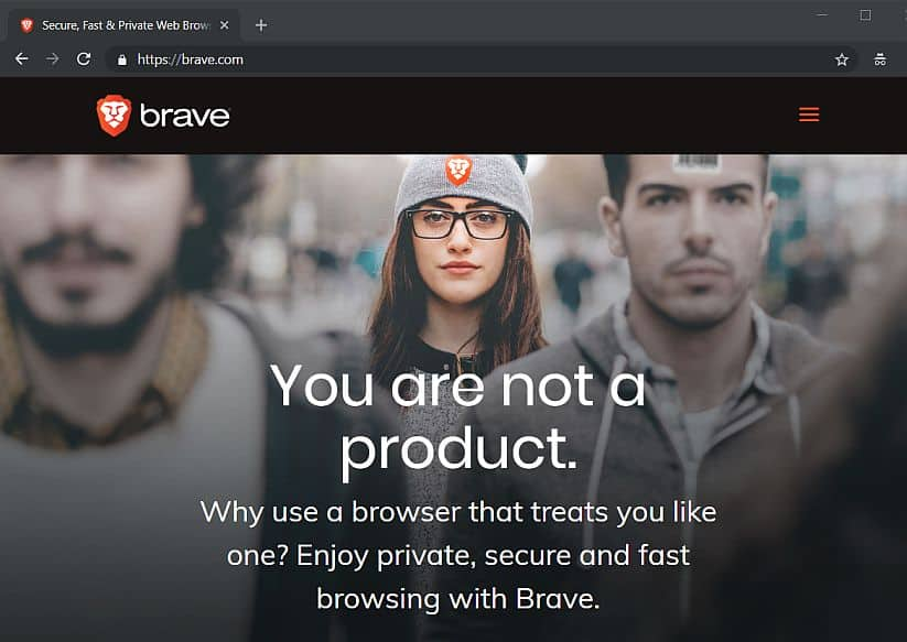 brave browser screenshot