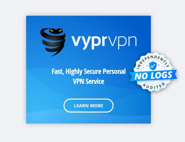 Screenshot of VyprVPN website
