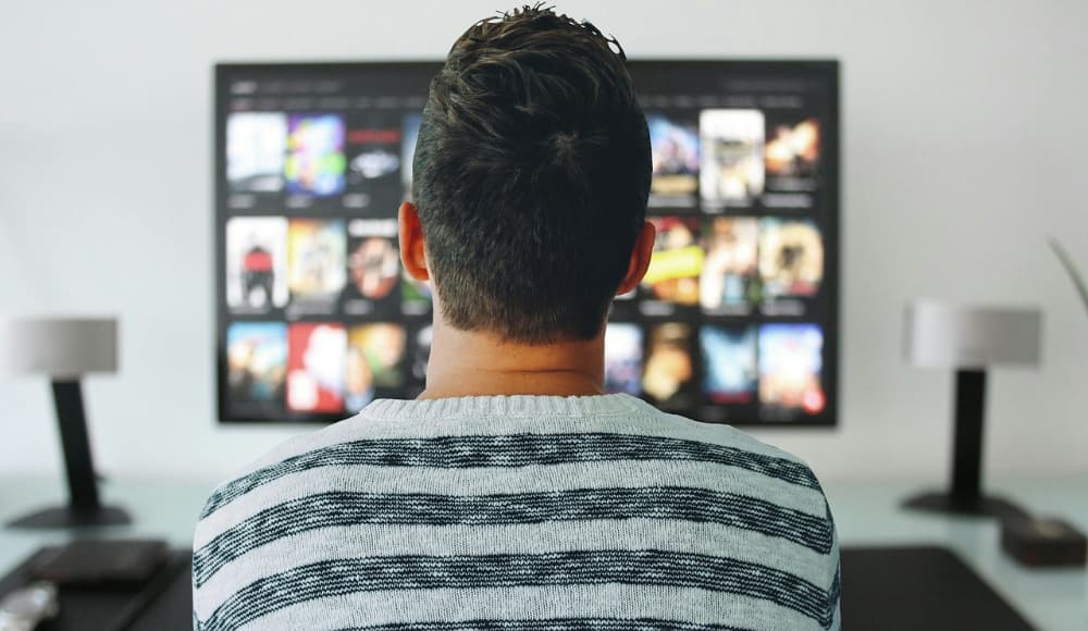 Photo of person watching American Netflix.