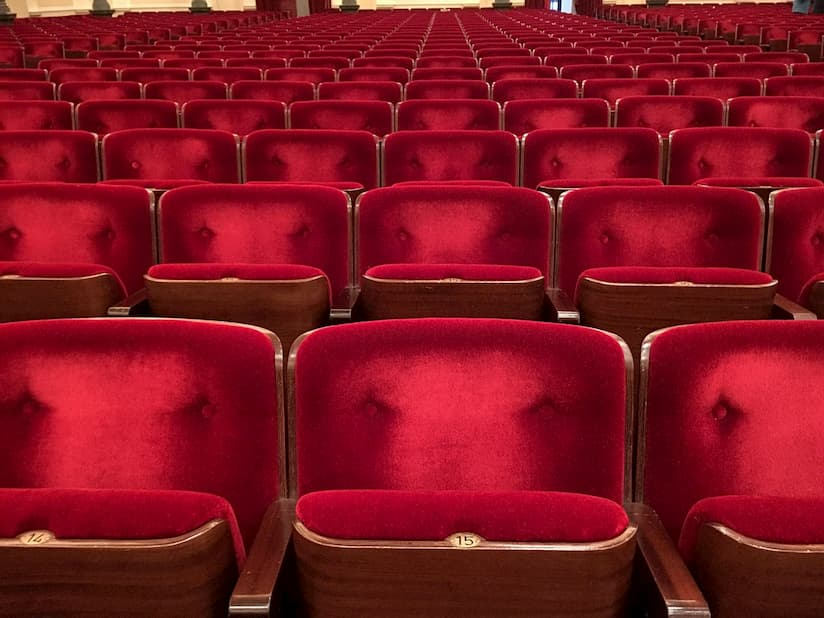 Image of movie theater seating.