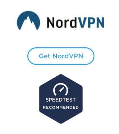 Screenshot of Speedtest.net endorsement of NordVPN.