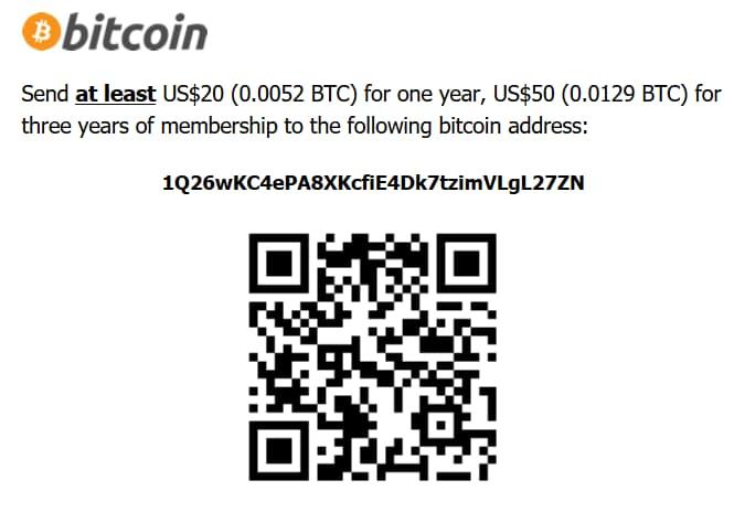 Screenshot of DOGnzb's Bitcoin terms