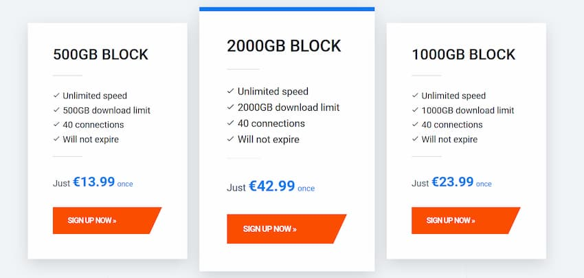 Screenshot of ViperNews block account pricing