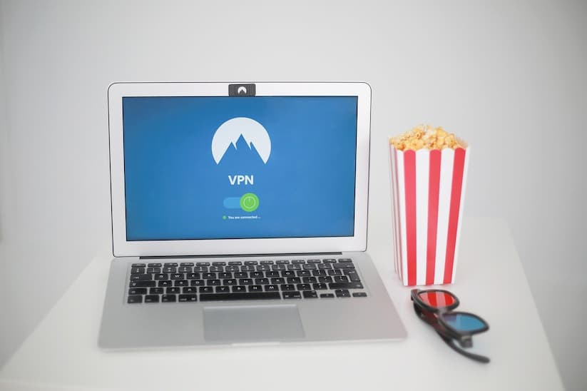 Picture of laptop streaming online movies.