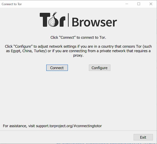Connect to Tor