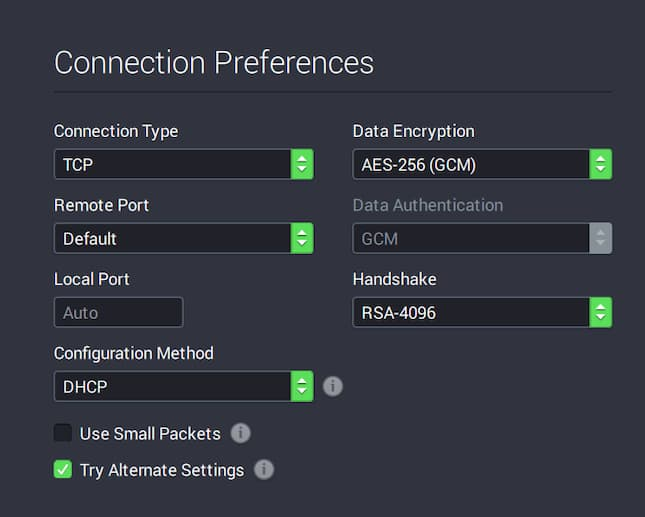 Encryption Settings