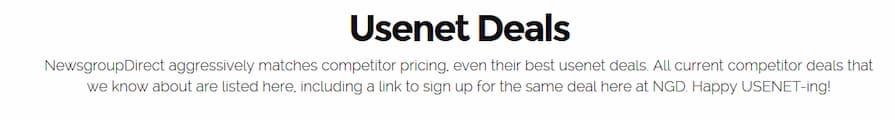 Usenet Price Match