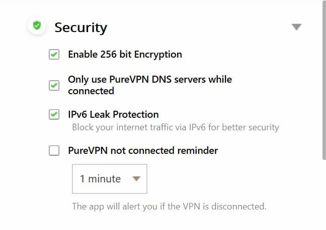 PureVPN Torrenting Güvenlik Ayarları