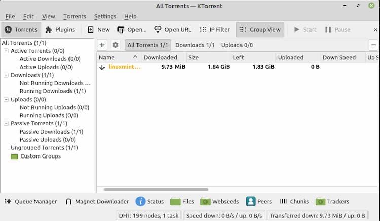 KTorrent Linux