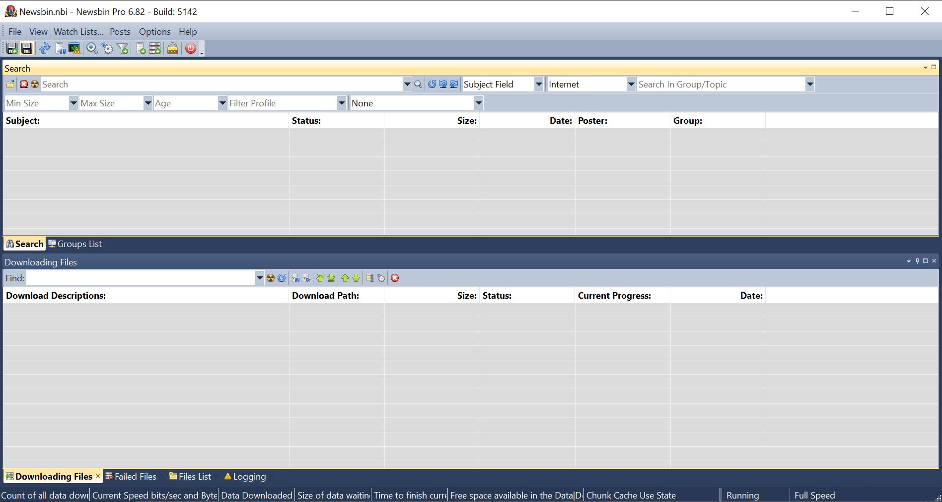 Newsbin Main Screen screenshot