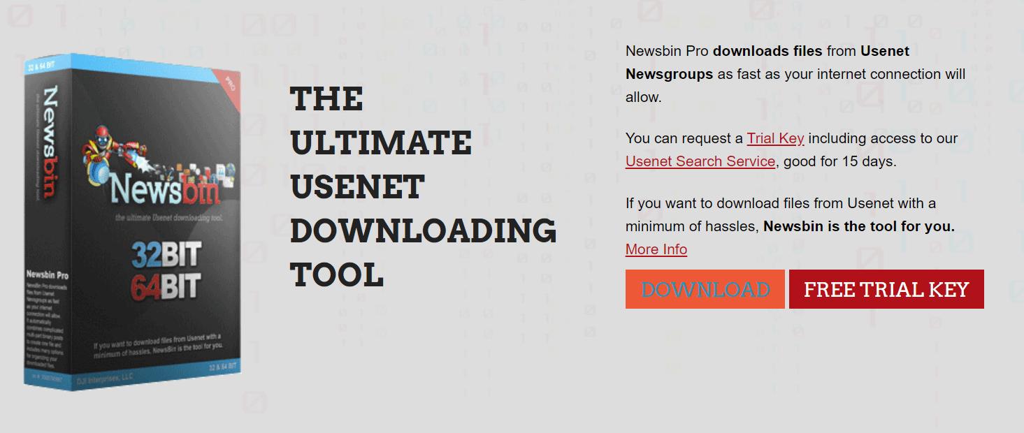 Newsbin software box